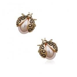 Cercei Buburuze perla roz