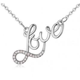 Colier Love silver