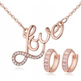 Set Love rose gold
