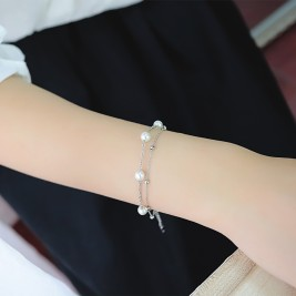 Bratara Perle silver
