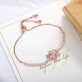 Bratara Elephant rose gold