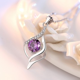 Colier Oksana violet