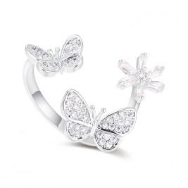 Inel Fluturi silver