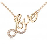 Colier Love gold