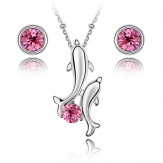 Set Delfini rose