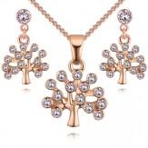 Set Tree of life gold cristal