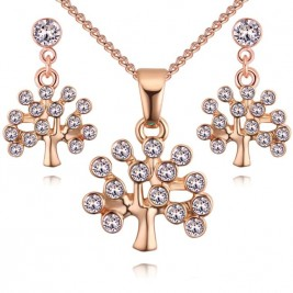 Set Tree of life gold cristal