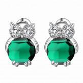 Cercei Bufnita emerald