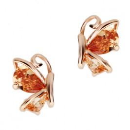 Cercei Butterfly gold peach