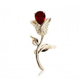 Brosa Trandafir garnet