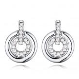 Cercei Samanta silver crystal
