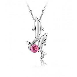 Colier Delfini rose