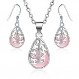 Set Galia silver rose