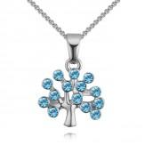 Colier Tree of life silver aqua