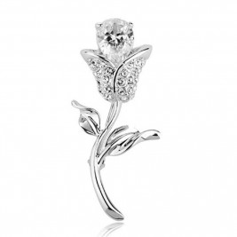 Brosa Trandafir silver