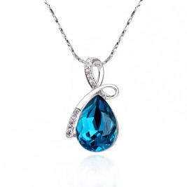 Colier Marlene blue