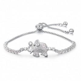 Bratara Elephant Silver