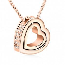 Colier inima auriu