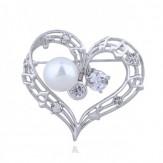 Brosa Inima silver