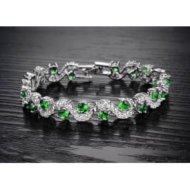 Bratara Charina emerald