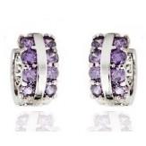 Cercei Cercuri violet
