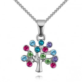 Colier Tree of life silver multi