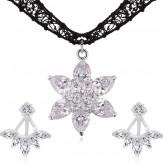 Set Esmeralda silver