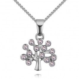 Colier Tree of life silver crystal