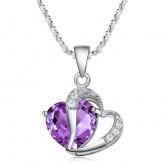 Colier Claudia violet