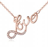 Colier Love rose gold
