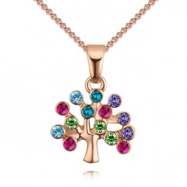 Colier Tree of life gold multi
