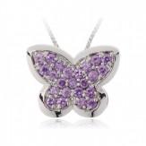 Colier Fluturi violet