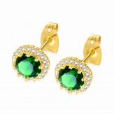Cercei Zara gold emerald