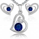 Set Inimi sapphire