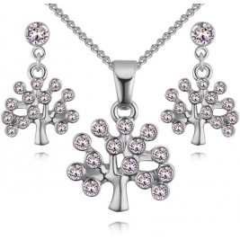 Set Tree of life silver cristal