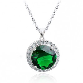Colier Ines emerald